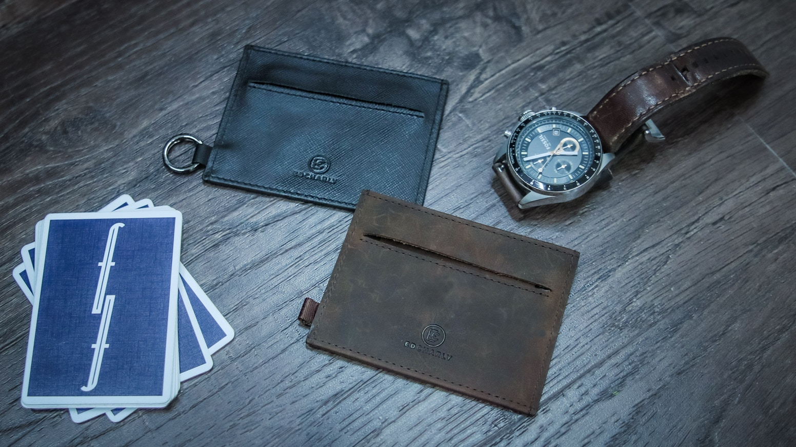 Super thin minimalist and lightweight wallet that holds coins, cards, keys & cash securely for your everyday carry.