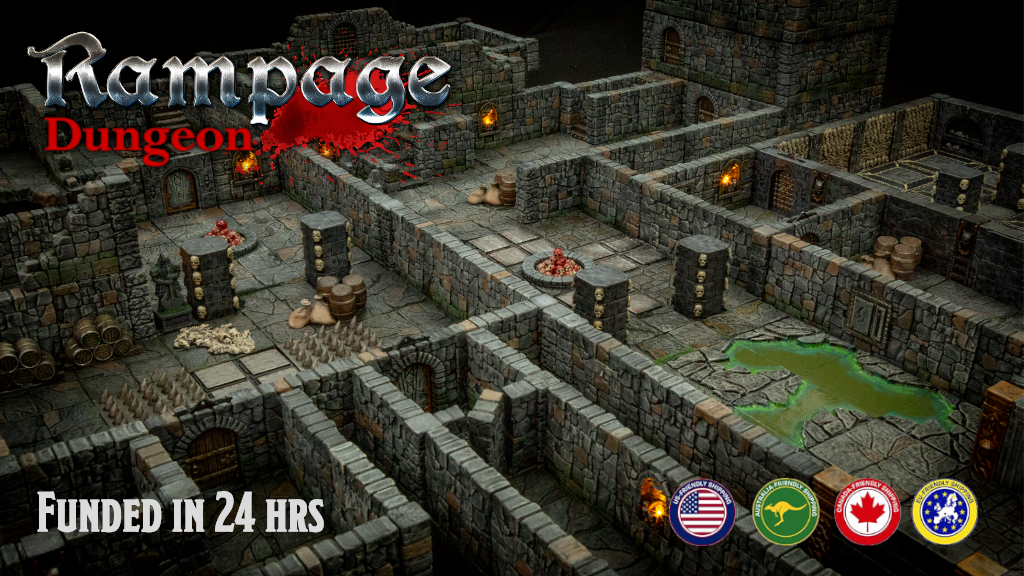 Rampage Dungeon - Seamless Interlocking Dungeon Tiles project video thumbnail