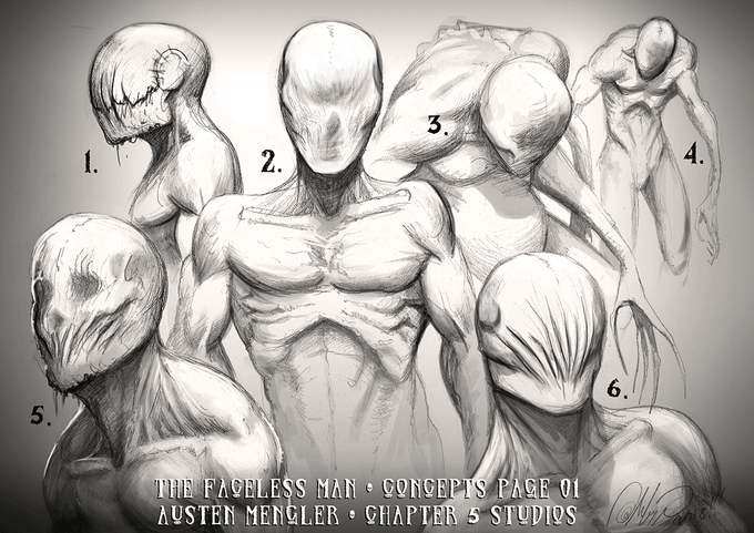 The Faceless Man - Concepts Page 01