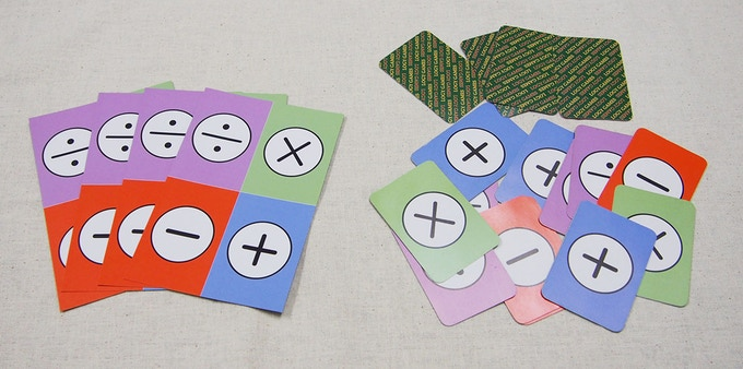 Self cut off four cards will be 16 arithmetic cards.