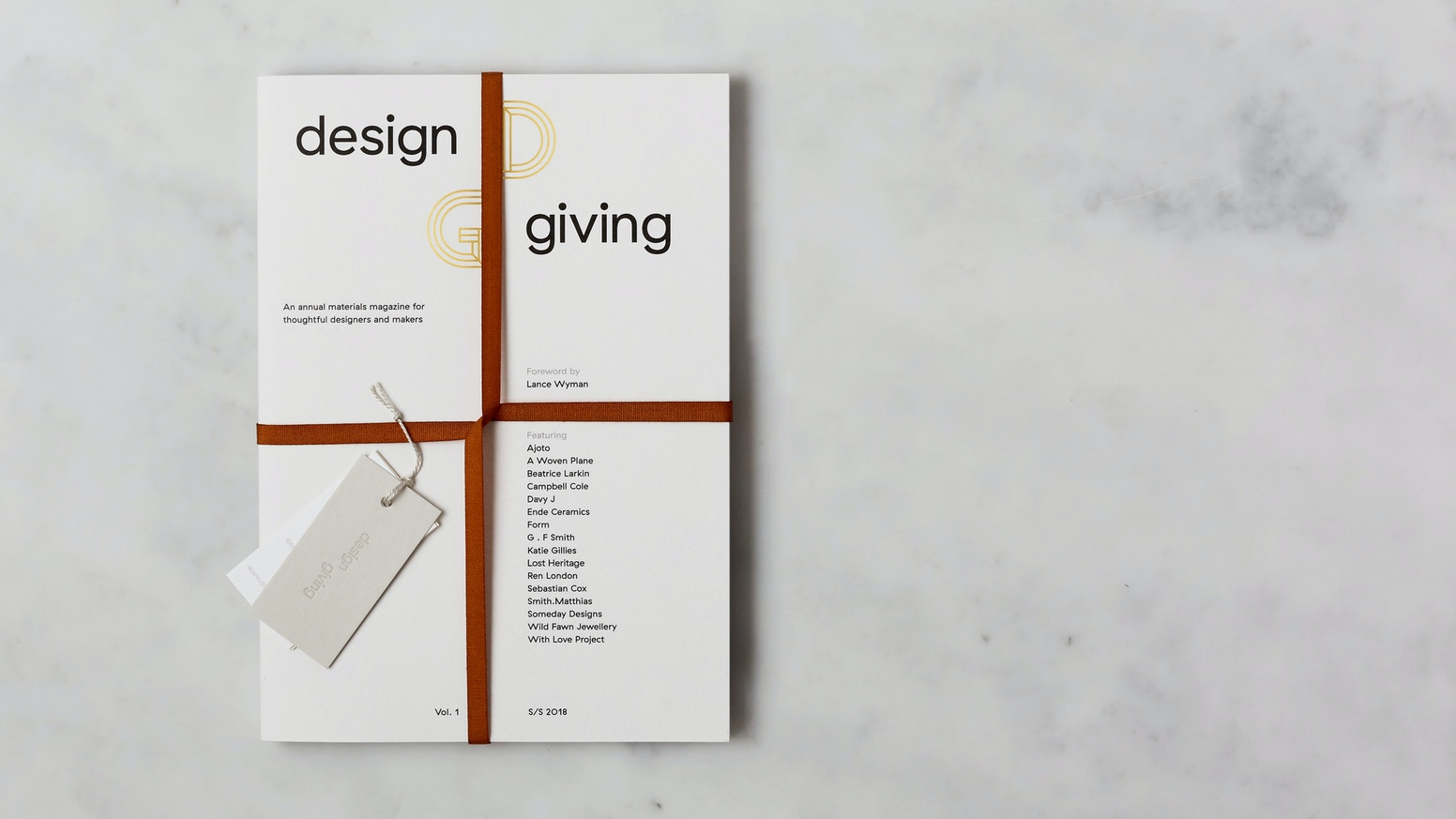 Design Giving is an annual print magazine celebrating well-crafted products that improve people's lives and are kinder to our planet. If you missed backing our kickstarter, there's still time to pre-order our magazine, click button below: