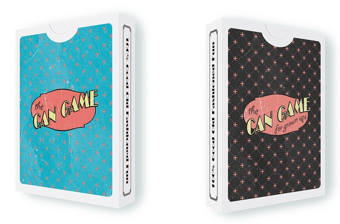 Main 52 card deck & the Can game for grown ups 52 card deck expansion deck!