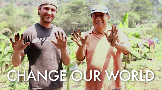 A still shot from an early video of our founder, Ryan, in Southern Mexico in partnership with Agros.org