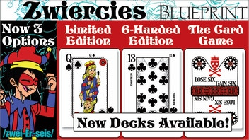 Zwiercies Card Game, Playing Cards and 6-Handed Deck