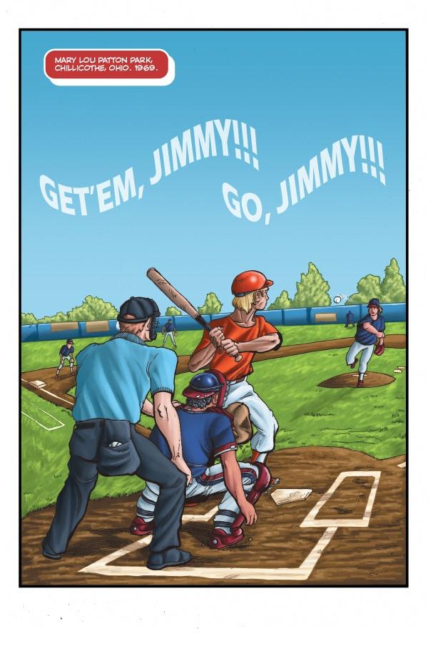 From days of childhood baseball glory...