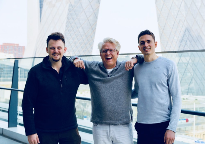 Luke Priddy (Tutors  & Content), James LaLonde (CEO), Drew Kirchhoff (Product)