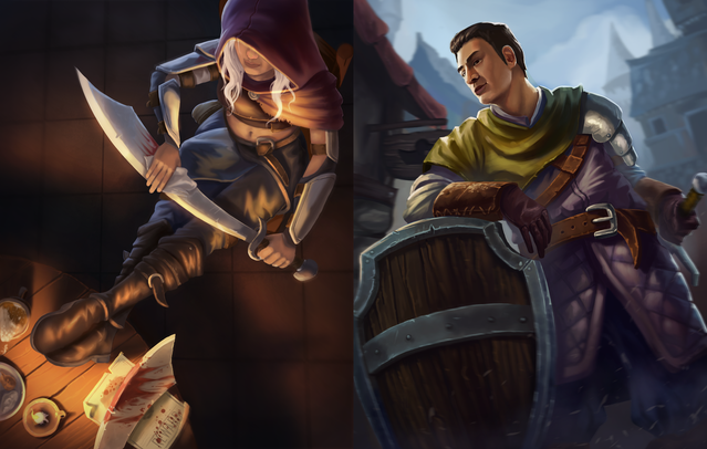 The Thug and Infantry tokens finalized artwork!