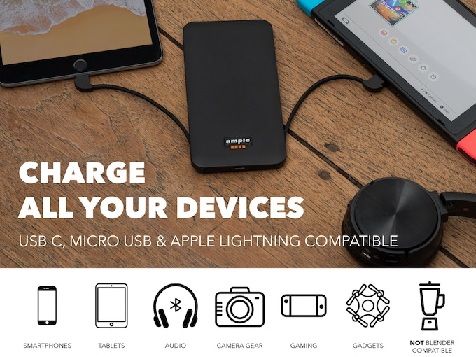 Ample  Ultraslim Powerbank with No Annoying External Cables by Ample ... 2fe1ba6fdf