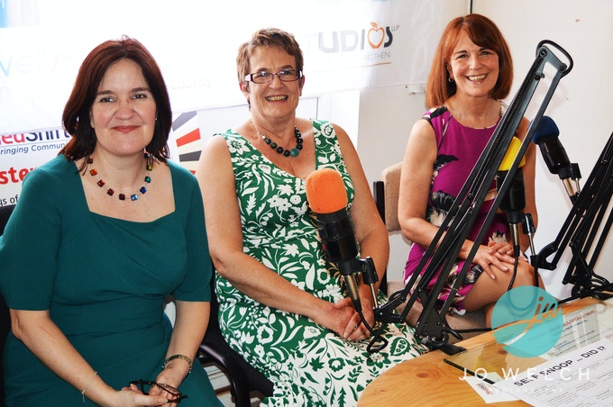 Susan Brookes, Sue Ritchie and Karen Shaw (on the right) at a special book pre-launch show on The Health and Healing Show with ChriSOULa