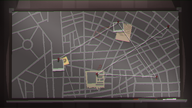The map allows you to navigate the city better