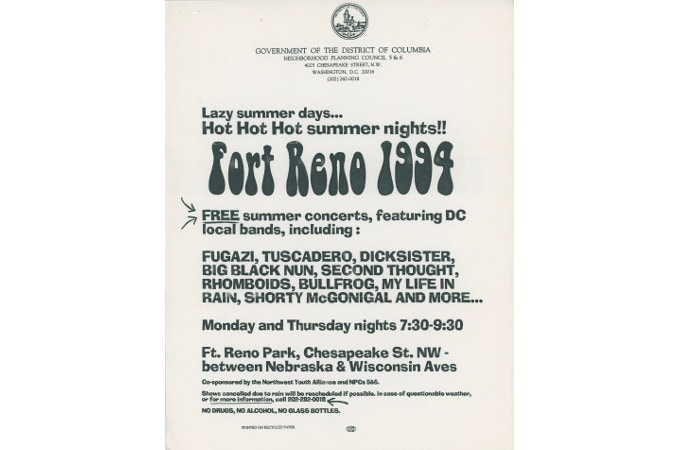 Fort Reno flyer, 1994
