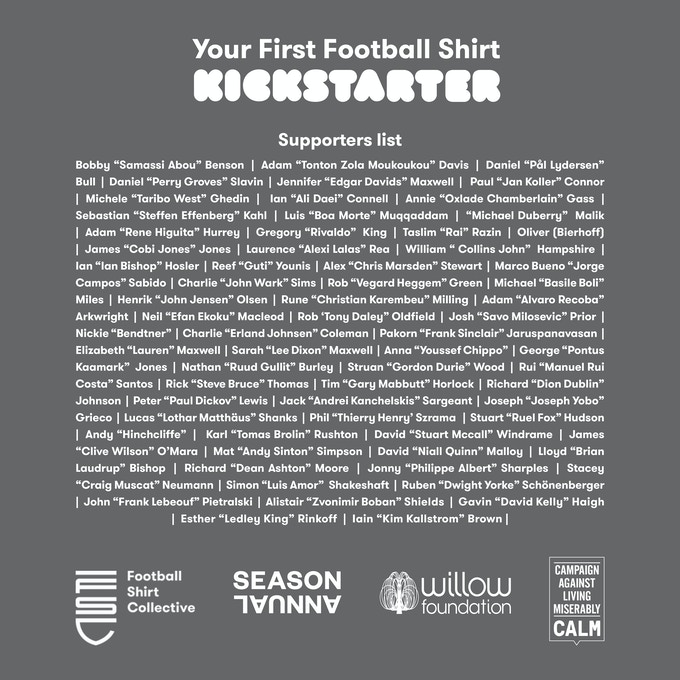 50a516d6c Plus everyone who contributes gets their name printed in the book with a  90s footballer middle name.