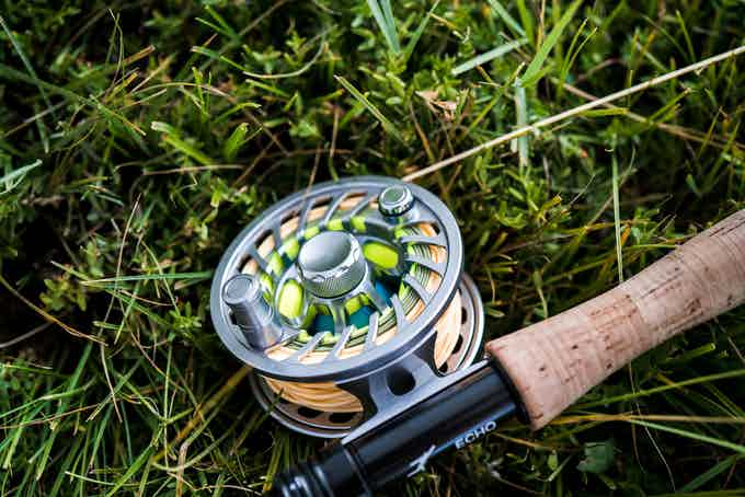 View of the spool side of the Session Reel