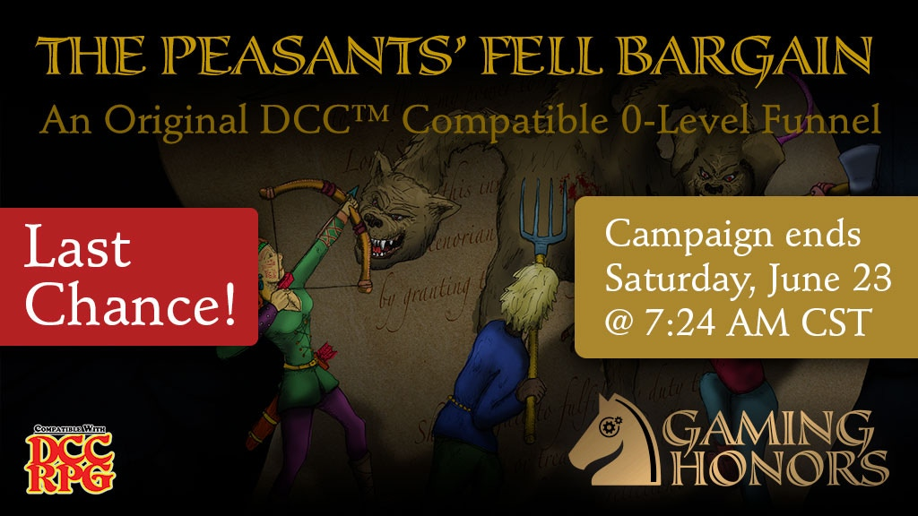 The Peasants' Fell Bargain: DCC™-Compatible RPG Adventure project video thumbnail