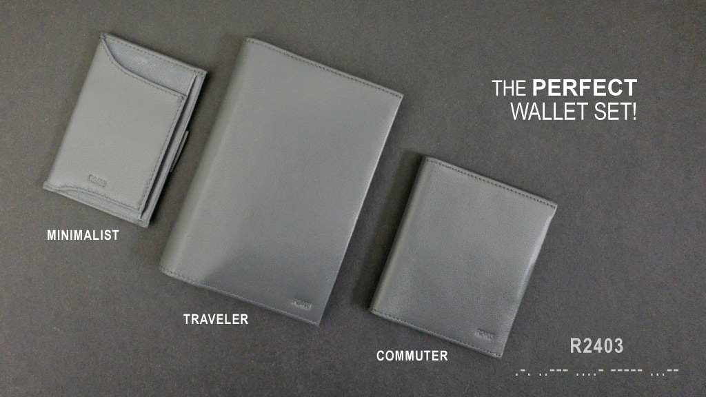R2403 - The Ultimate Wallet Set! Card Case, Bifold & Travel