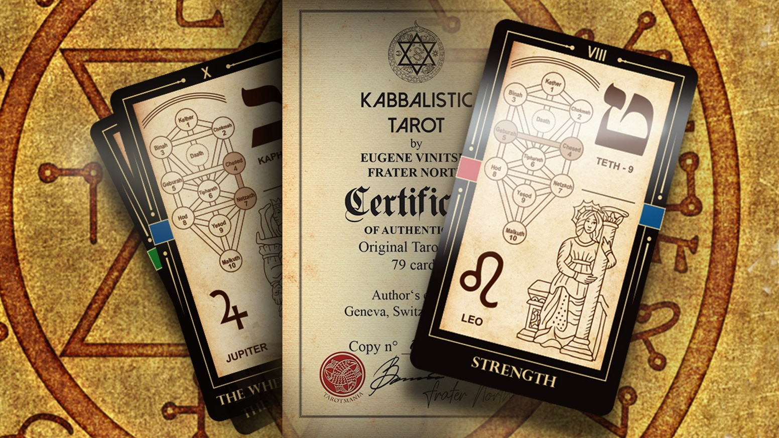 The Kabbalistic Tarot Cards Deck by Eugene Vinitski