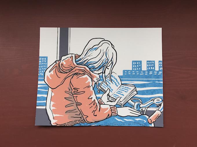 "Silkscreen Print: ""The Dedicated Reader #2"""