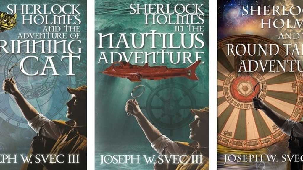 A special edition hardcover of the three Joseph Svec Sherlock Holmes novels - Grinning Cat, Nautilus Adventure and Round Table.