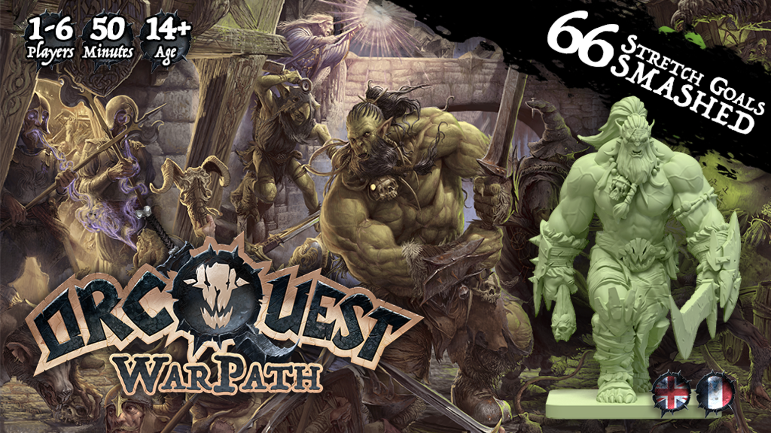 Live the adventures of an Orc band that departs on a quest in the OrcQuest Universe. A collaborative game from 1 to 6 players.