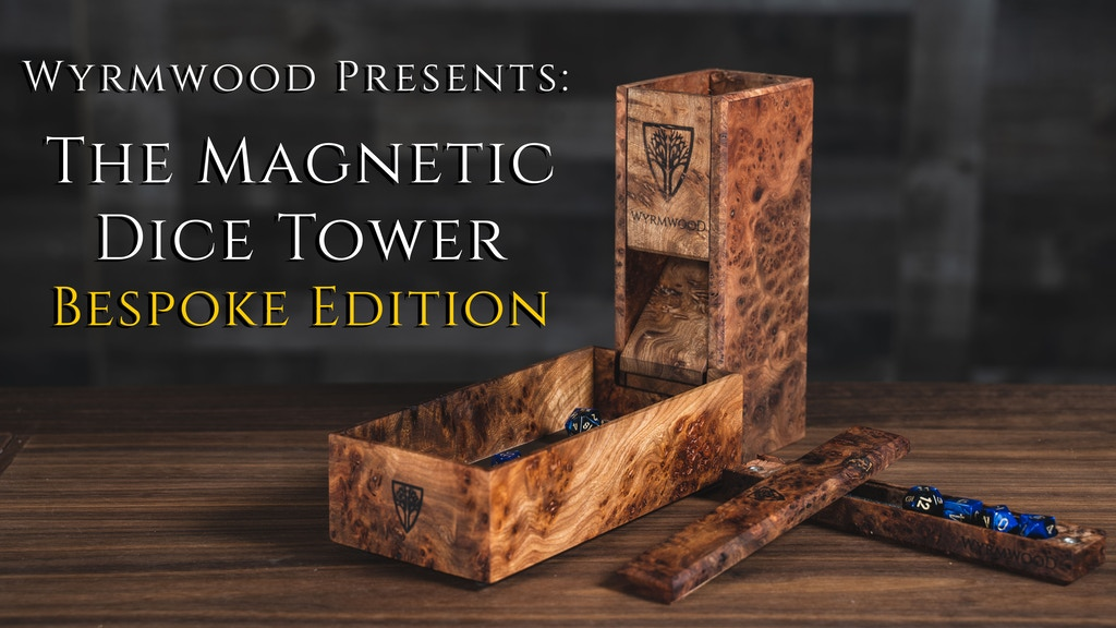 The Wyrmwood Magnetic Dice Tower System Bespoke Edition project video thumbnail