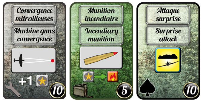 Examples of Amelioration, Equipment and Ace cards
