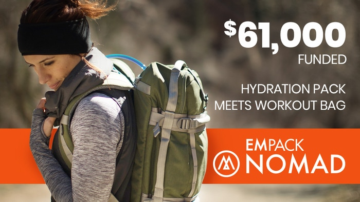 This hydration pack turned weight training bag comes with removable cushioned shoulder straps, adjustable chest strap, & waist strap.