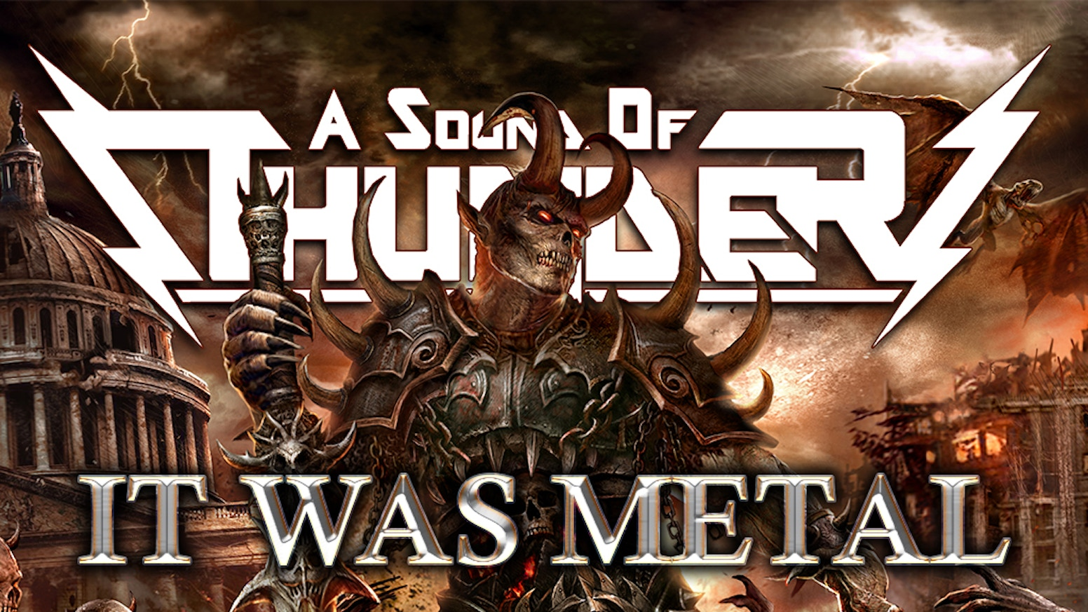 IT WAS METAL is a comic anthology and a metal album. Each of the ten stories in the anthology is based on a song from the album.
