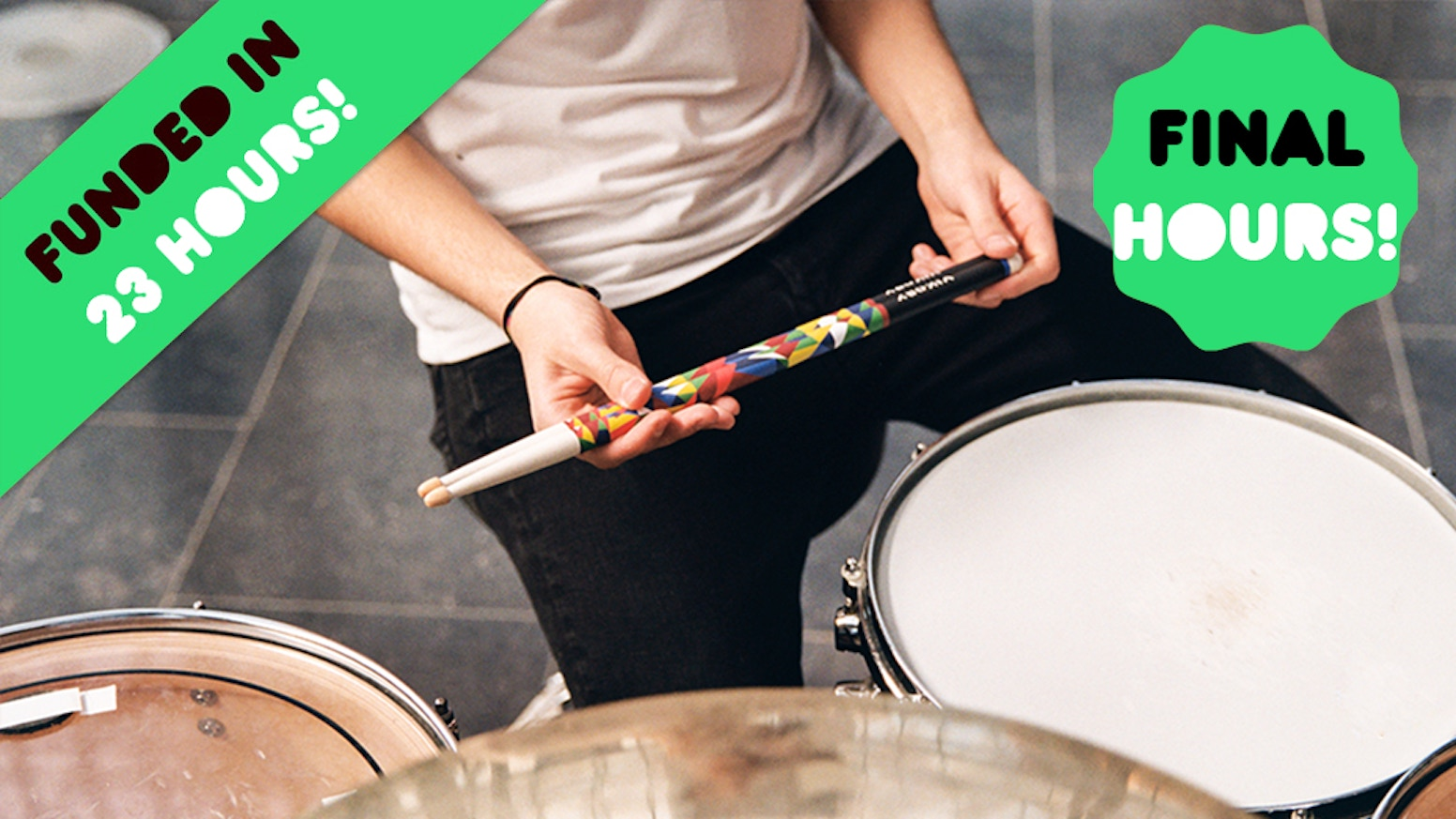 Simply the most resistant and the best badass looking drumsticks you ever played with.