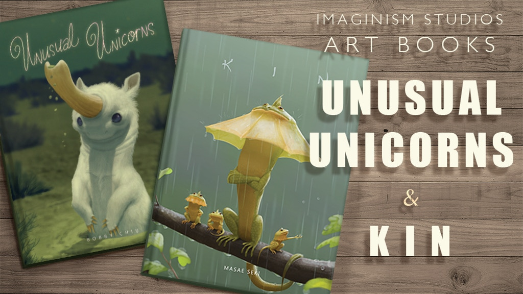 Art books about Family and Unusual Unicorns project video thumbnail