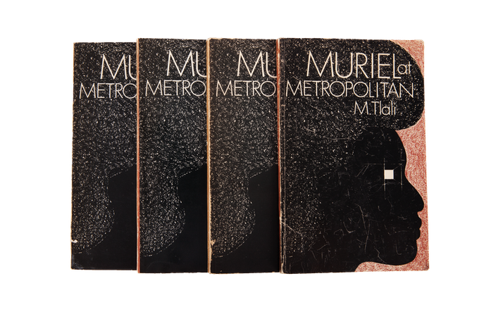 First editions of Muriel at the Metropolitan by Miriam Tlali, the first published novel by a black South African woman. Written in 1969, it was not published until 1975, at which time it was banned.