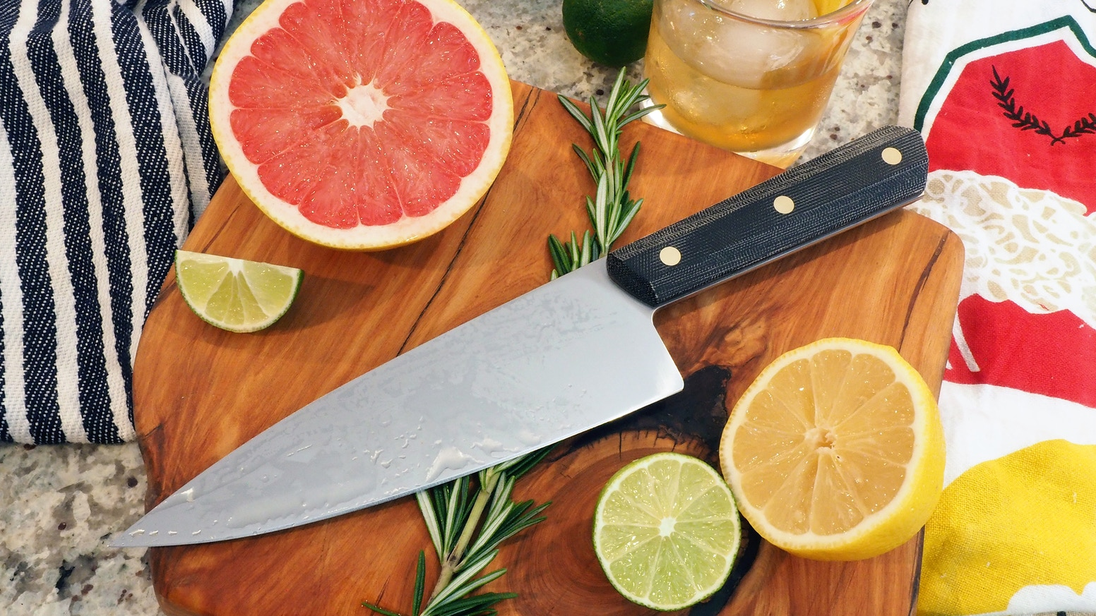 Inspired by a love of food and family, the Nita Chef Knife was designed by Lucas Burnley as a kitchen knife for today's home cooks.