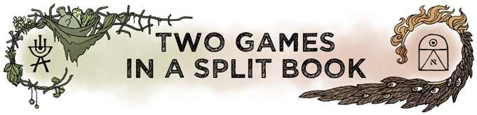 [Header: Two Games in a Split Book]