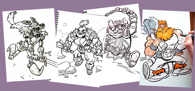 Most reward levels have one of my original sketches included. Check 'em out!