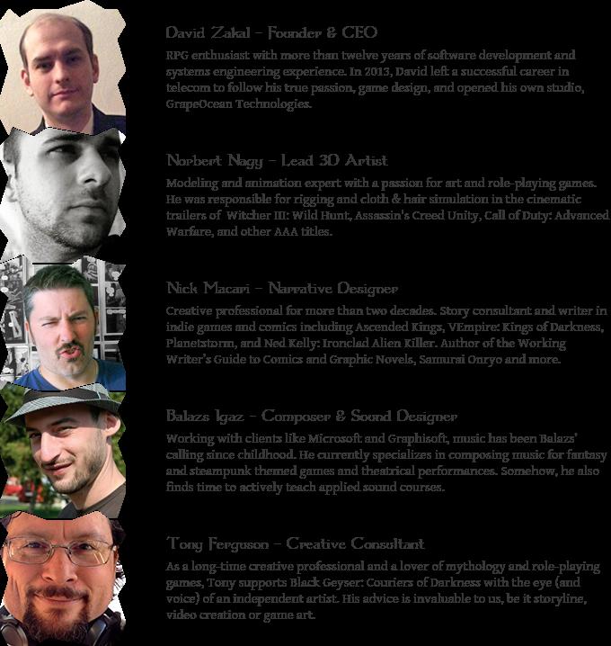 Black Geyser Couriers Of Darkness By Grapeocean Technologies Kickstarter
