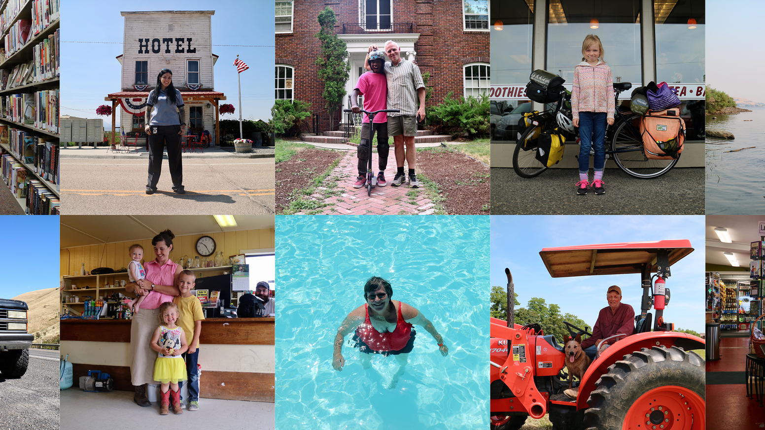 A photo series capturing the people we meet when we ride our bicycles really, really far.