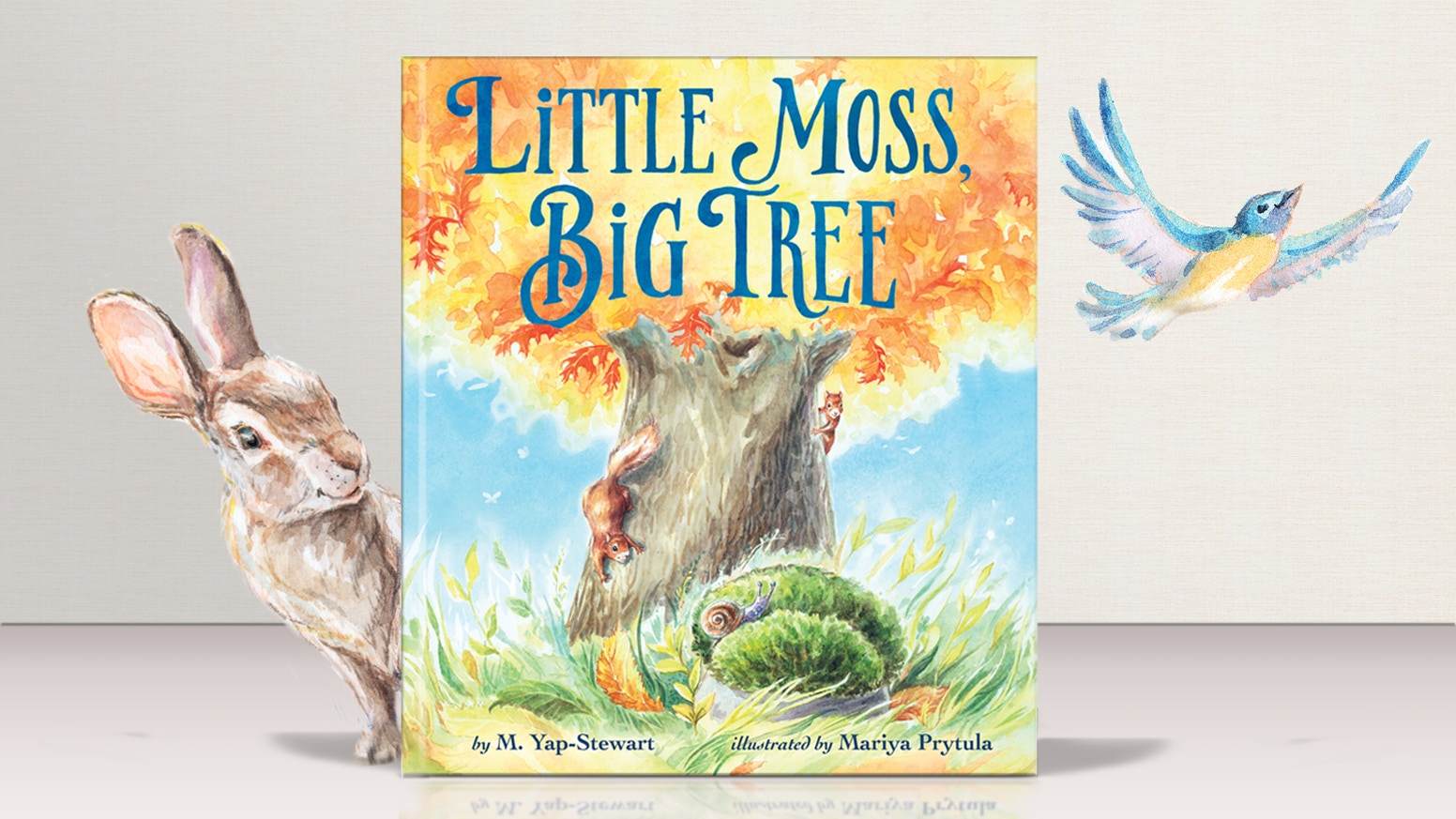 Classically-bound picture book, hand-painted in vintage-style watercolor, celebrating the magic of the natural world and friendship.