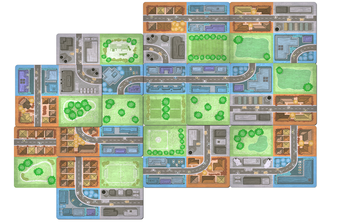 Sprawlopolis A Solo Amp Cooperative City Building Game By