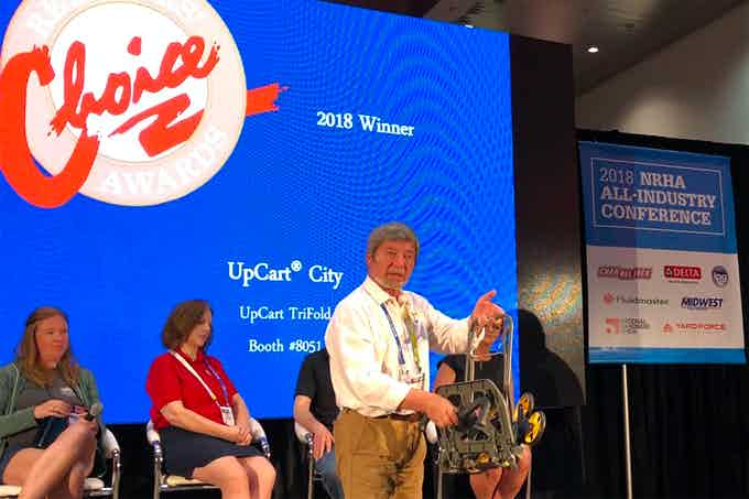 We JUST won the Retailer's Choice Award at the 2018 National Hardware Show!!! UpCart City is a big hit!!