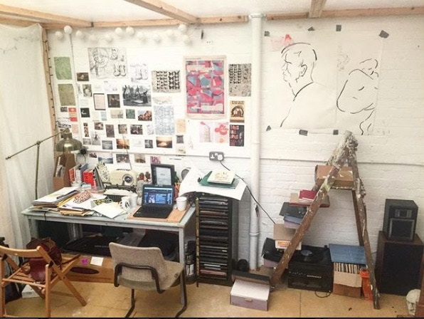 A glimpse of Hurst Street Press's studio.
