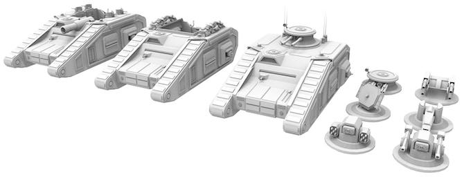 Tanks (SPG Troopcarrier, Command Tank, Battle Tank)