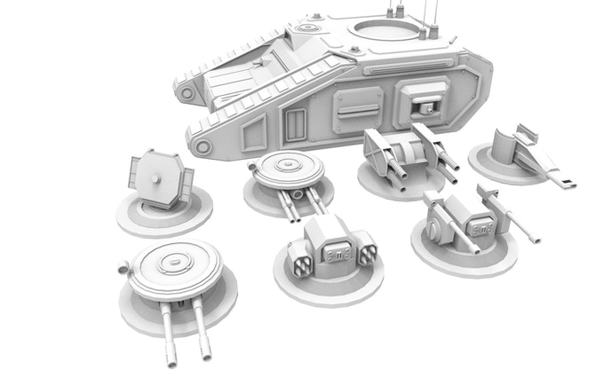 Tank with easily exchangeable Turrets