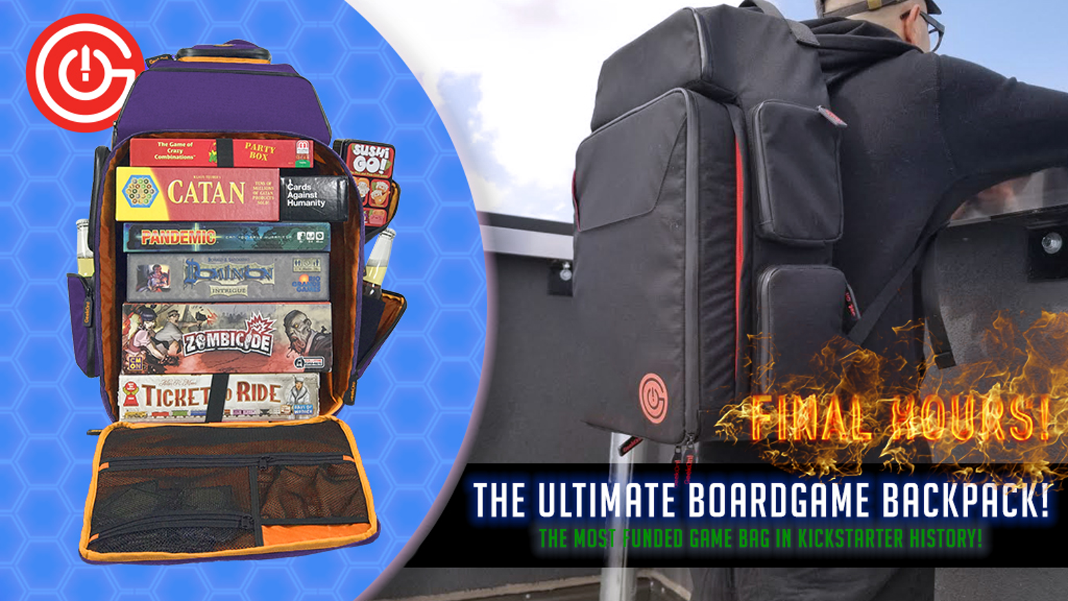 The most comfortable & convenient game bag ever created to protect your expensive board games on the go!