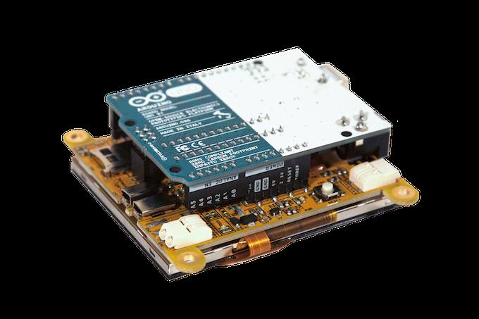 Sunflower Shield with Arduino Installed