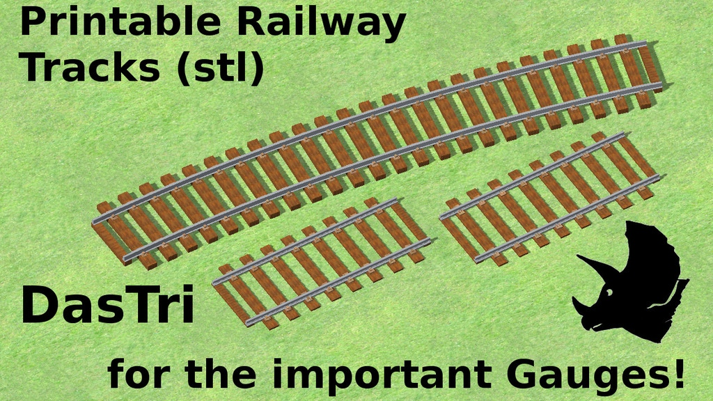 Project image for Printable Railway Tracks (STL) for the important Gauges!