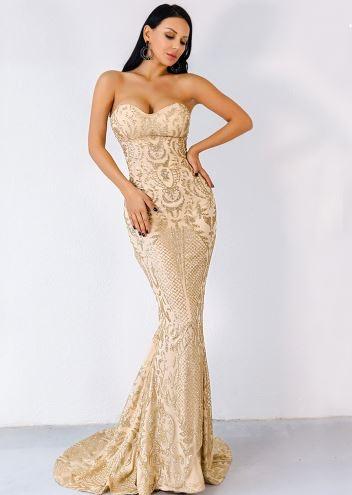 Maria Elegant Gold Dress (value $169.99)