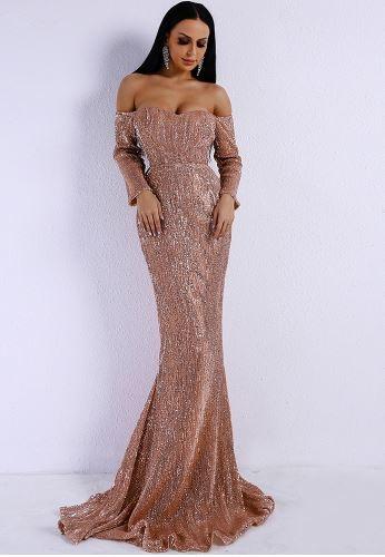 Nicole Elegant Gold Dress (value $199.99)
