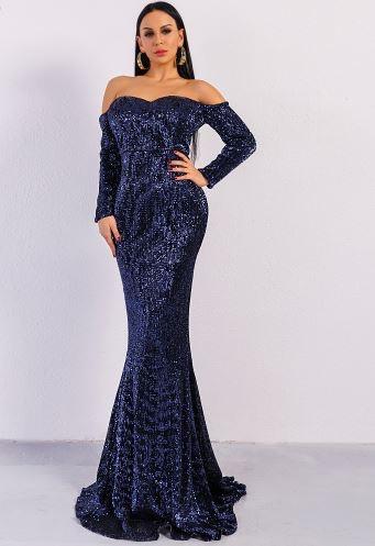 Nicole Elegant Blue Dress (value $199.99)