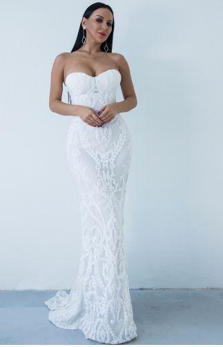 Mya Elegant White Dress (value $199.99)
