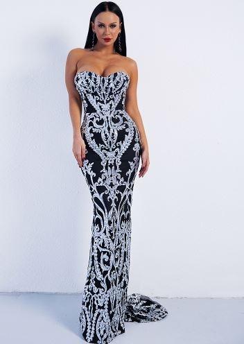 Mya Elegant Silver Dress (value $199.99)