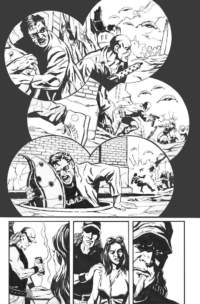 Phantom Flight page 2 by Bob Hall. Original art: $100